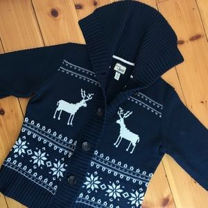 Bass Button Down Navy Stag Sweater